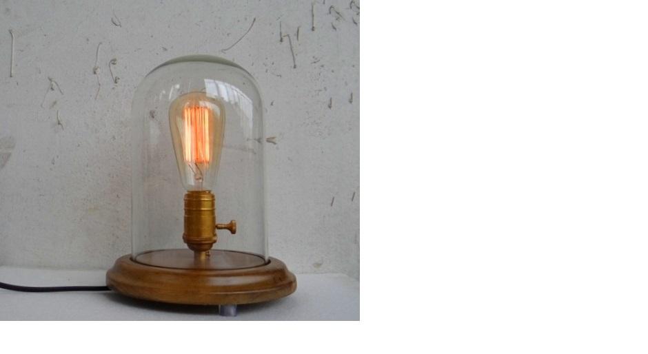 vintage glass dome edison lamp hong kong. Black Bedroom Furniture Sets. Home Design Ideas