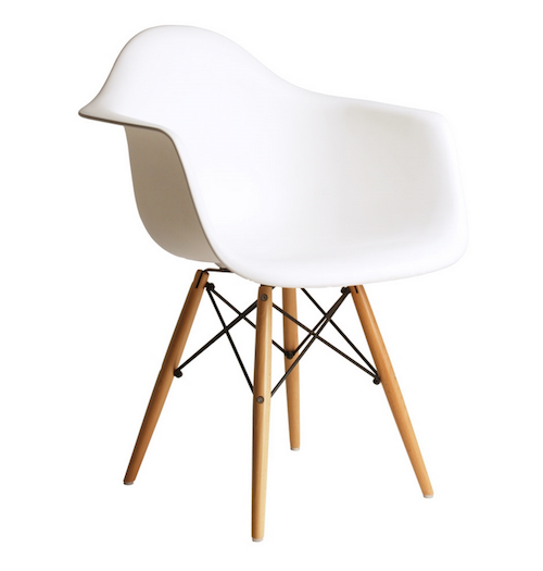 Replica Eames Armchair   White | Modern Designer Seating Black Arm Chair  Wood Legs For Your Bedroom, Study, Living, Dining Areas Home Interior  Furniture At ...