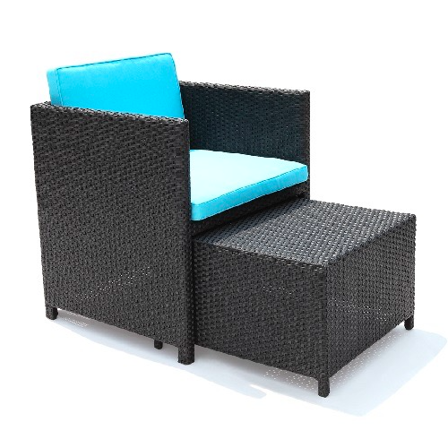 Outdoor Furniture Hong Kong Chair With Ottoman Footstool