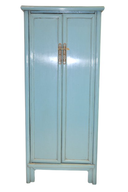 Blue cabinet armoire chinese reproduction furniture for Kitchen cabinets lowes with hong kong wall art