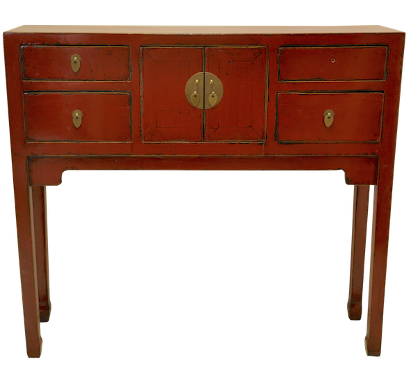 Red Chinese Duke Of Chou Table