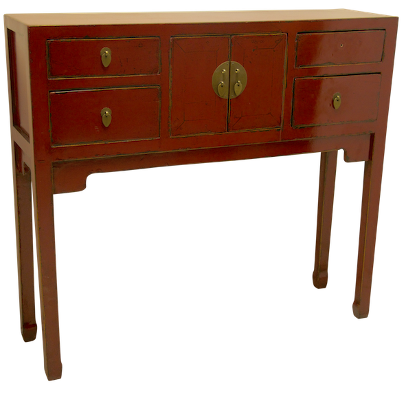 Red Chinese Duke Of Chou Table Hong Kong Home Essentials Oriental Chinese Alter Table Console