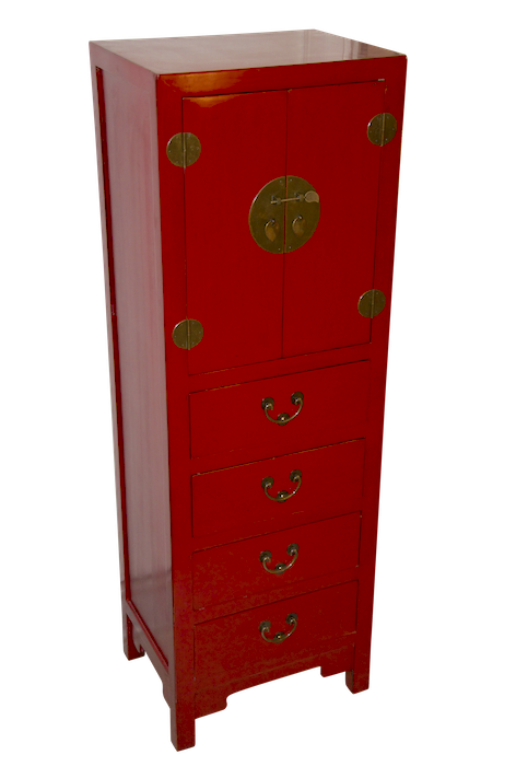 Peking slim cabinet red tall chest chinese reproduction for Cheap designer furniture hong kong