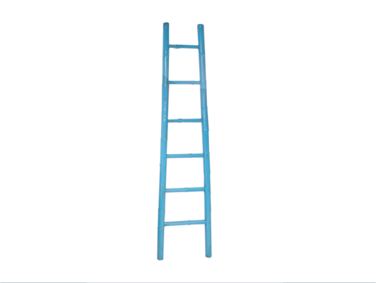 Light Blue Bamboo Ladder Chinese Bamboo Ladder