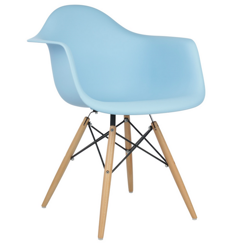 replica eames armchair light blue. Black Bedroom Furniture Sets. Home Design Ideas