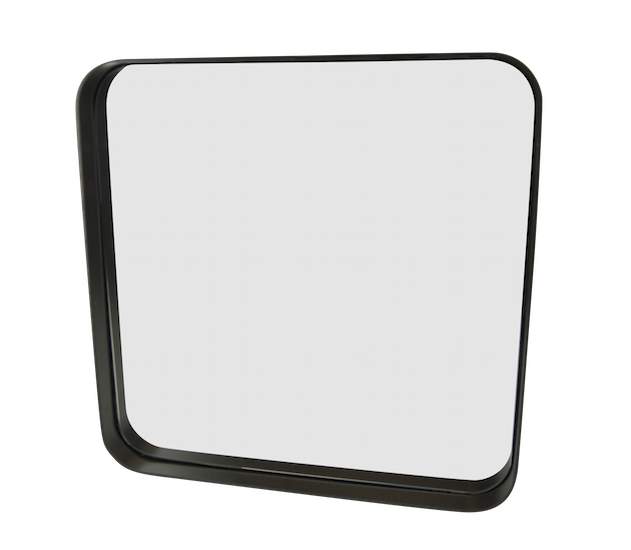 Ls square mirror 50x50 matt black for Miroir 160 x 50