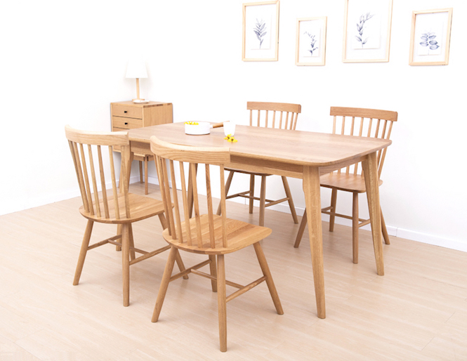 Troms Solid Oak Dining Table Solid Oak Dining Tables Coffee Tables Mid Century Style Home